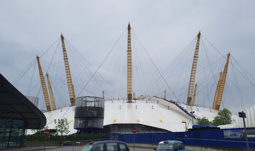 Up at the O2 and a cable-car